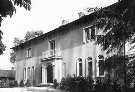 Die Ohlendorff'sche Villa bei ihrer Fertigstellung 1928