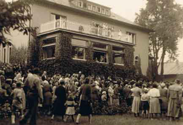 Parkfest bei der Eröffnung des Ortsamtes der Walddörfer 1951