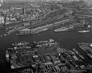 Coll.Niermann-Hafencity-Arningkai um 1960 Aludib. 120x150