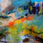 abstrakt! Malerei in Acryl von Reili Maria Riesenkampff