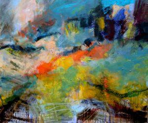 abstrakt! Malerei in Acryl von Reili Maria Riesenkampff. @ Ohlendorffsche Villa | Hamburg | Hamburg | Deutschland