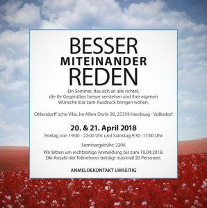Seminar – Besser miteinander Reden @ Ohlendorffsche Villa | Hamburg | Hamburg | Deutschland