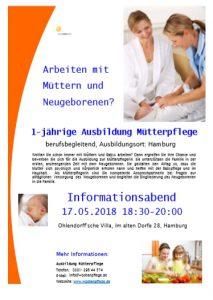 Informationsabend zur Ausbildung in der Mütterpflege. @ Ohlendorff´sche Villa | Hamburg | Hamburg | Deutschland