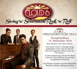 Cloud 6 - HumpDayBlues in der Villa! @ Ohlendorffsche Villa