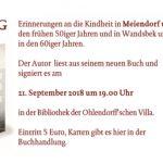 Lesung Rainer Hüls in der Ohlendorff'schen Villa 2018