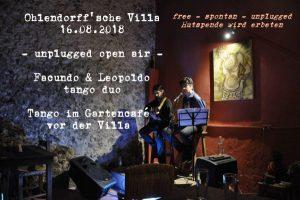 Facundo und Leopolodo unplugged – Tango im Gartencafé der Villa! @ Ohlendorffsche Villa