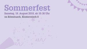 Sommerfest im Erlenbusch @ Erlenbusch