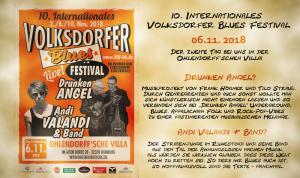 10. Internationales Volksdorfer Blues Festival 2018 - Tag II @ Ohlendorffsche Villa