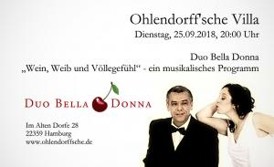 """Duo Bella Donna - """"Wein, Weib und Völlegefühl"""" @ Ohlendorffsche Villa"""