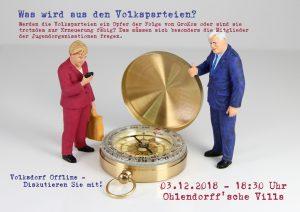 Volksdorf offline: Was wird aus den Volksparteien? @ Ohlendorffsche Villa