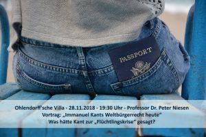 Professor Dr. Peter Niesen - Immanuel Kants Weltbürgerrecht. @ Ohlendorffsche Villa