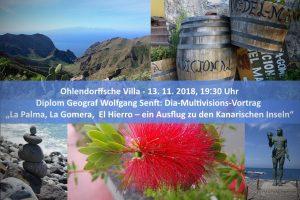 Diplom-Geograf Wolfgang Senft La Palma La Gomera El Hierro @ Ohlendorffsche Villa