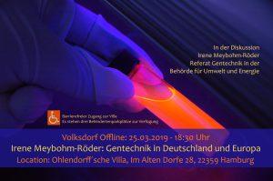 Volksdorf Offline: Irene Meybohm-Röder – Gentechnik in Deutschland und Europa. @ Ohlendorffsche Villa