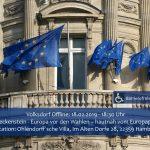 Volksdorf Offline: Knut Fleckenstein Europa vor den Wahlen.