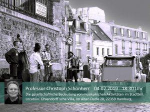 Professor Christoph Schönherr - Die gesellschaftliche Bedeutung von musikalischen Aktivitäten im Stadtteil @ Ohlendorffsche Villa