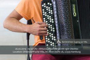 Virtuose Bajanklänge Igor Oleshko @ Ohlendorff'sche Villa | Hamburg | Hamburg | Deutschland